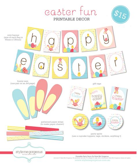 style me gorgeous printable decor easter fun