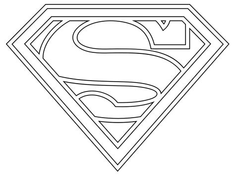 supergirl emblem template free coloring pages of supergirl logo