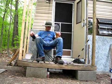 breaking  pallets building  porch  prepping rain