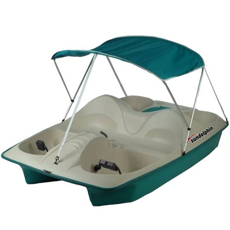 sun dolphin 3 person pedal boat sun dolphin 5 person pedal boat with canopy 71553 the