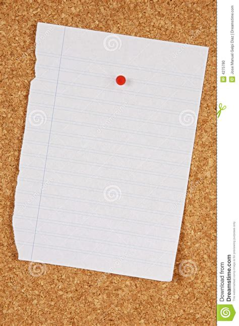 How To Make A Board With Paper - pin board stock photo image 4275780