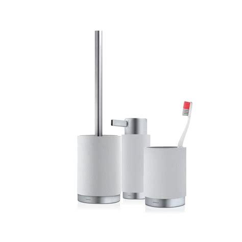 grey bathroom accessories uk blomus ara bathroom set moon grey black by design