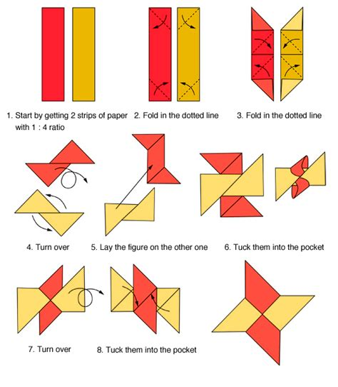 How To Make A Origami Shuriken - shuriken origami