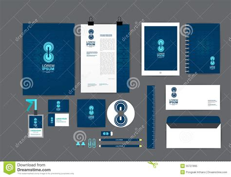 blue and circle corporate identity template for your