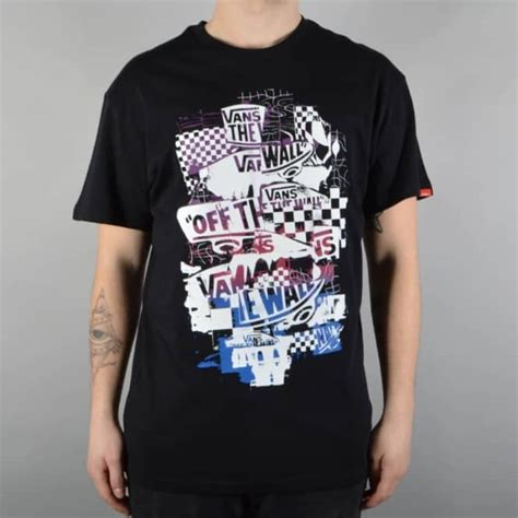 vans otw checker blaster skate t shirt black purple