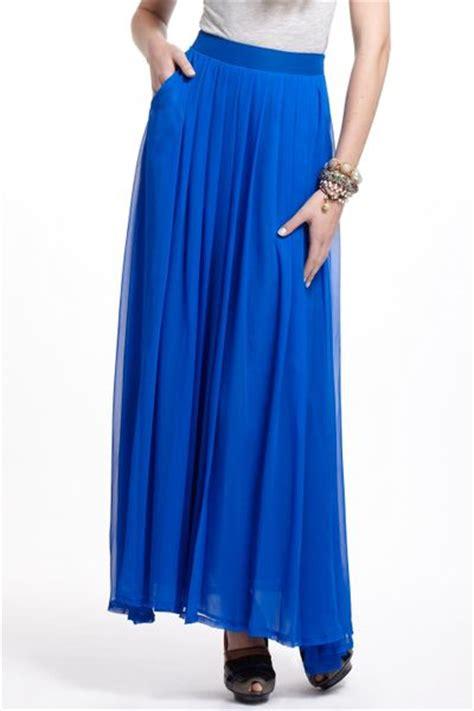 jade aerophone silk maxi skirt in blue lyst