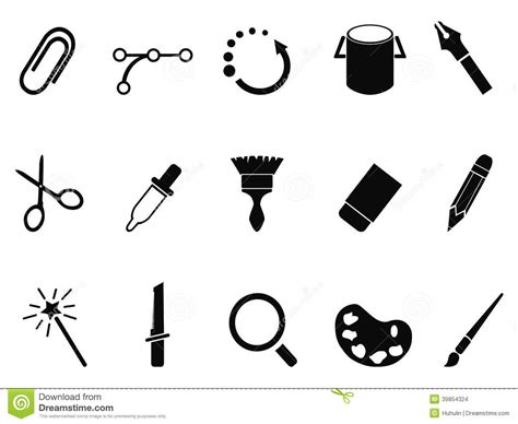 graphic design icons stock vector image of icon design graphic design tools icon set stock vector image 39854324