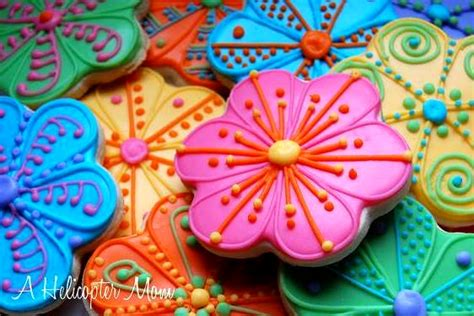 hand decorated iced sugar cookies recipe a helicopter mom