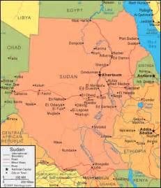 Sudan World Map by Sudan Map