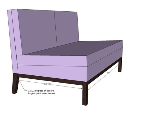 upholstered bench plans ana white build a upholstered settee free and easy diy