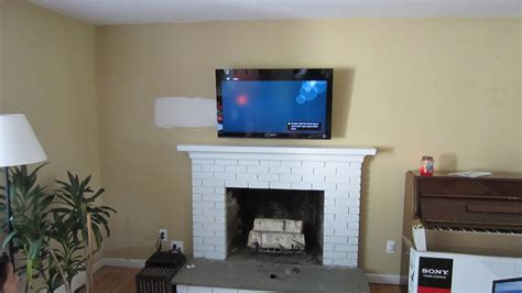 mounted tv fireplace fairfield ct mount tv on wall richey llc audio experts