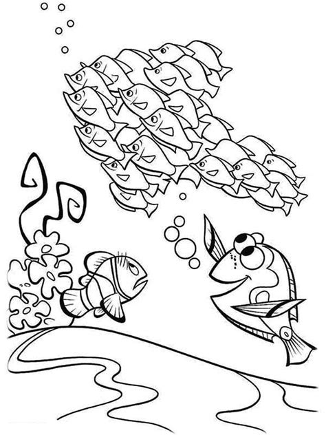 Coloring Pages Fish Nemo by Finding Nemo Dory Coloring Pages Coloring Home