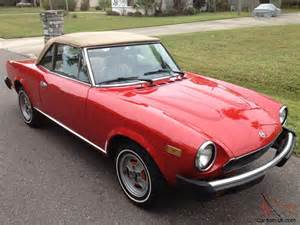 Fiat Spider Fuel 1981 Fiat Spider 124 Convertible Fuel Injection 2000 Cc
