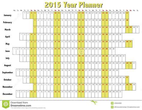 Kalender 2015 Planer 2015 Year Planner Stock Vector Image 43994838