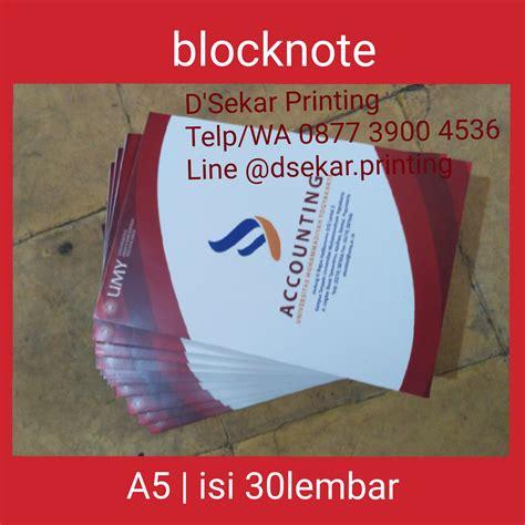 Jual Kain Spunbond Bogor cetak blocknote memo murah pusat cetak sablon merchandise