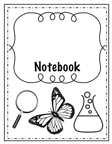 coloring notebook science notebook cover coloring pages sketch coloring page