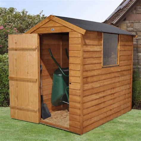 4x6 Garden Shed by Forest Overlap Apex Garden Shed Easy Fit Roof 4 X 6