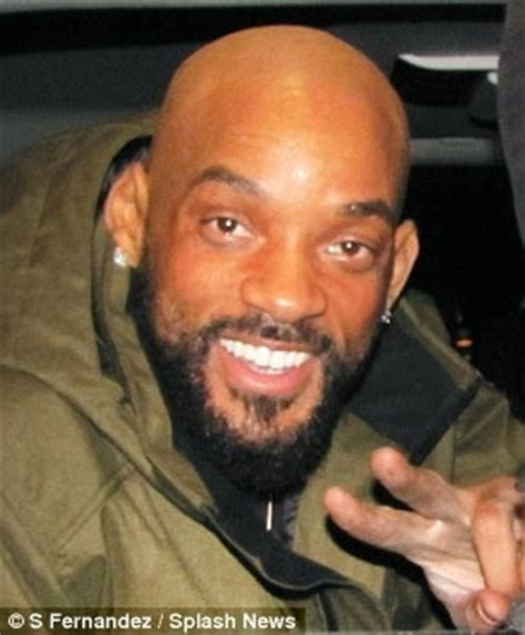 bald head goatee styles light skinned pics egistonline magazine will smith shows off bald head
