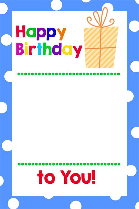 Template For Gift Cards - printable birthday gift card holders crazy little projects
