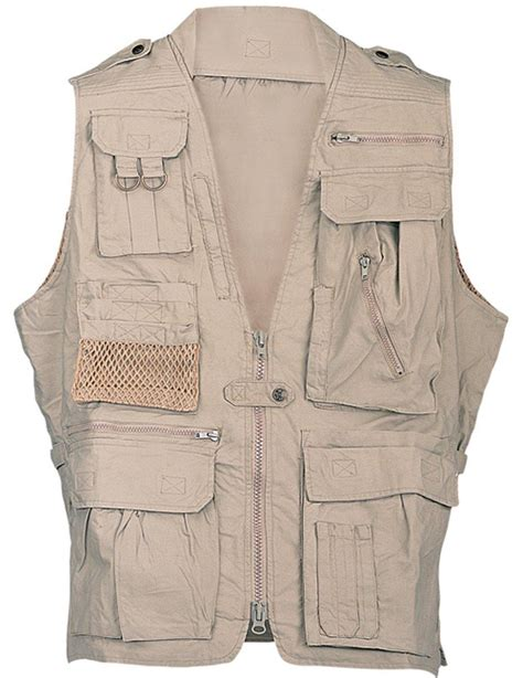 vest with pockets humvee cotton safari vest with pockets sports outdoors