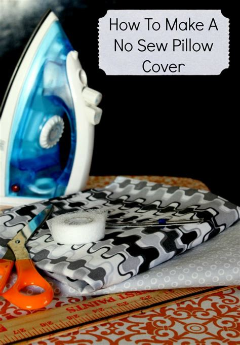 easy no sew pillow covers tutorial makobi scribe