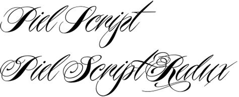 tattoo font piel script piel script font by ale paul a breakthrough in modern