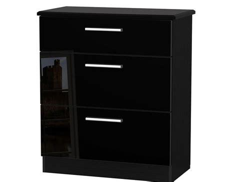 Black High Gloss Drawers by Black High Gloss 3 Drawer Chest