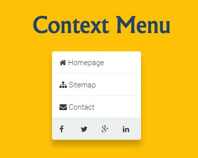 tutorial menu css jquery create context menu with jquery and css jquery plugins