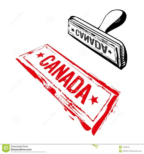 custom rubber sts canada canada rubber st royalty free stock image image 17865076