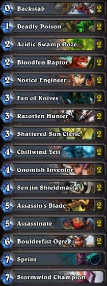 hearthstone basic decks hearthstone best rogue basic deck free deck rogue