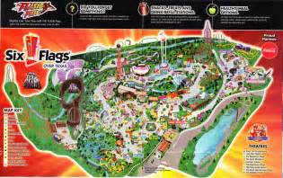 map of six flags six flags map