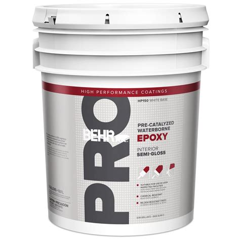 home depot 5 gallon interior paint behr pro 5 gal i100 white semi gloss interior paint