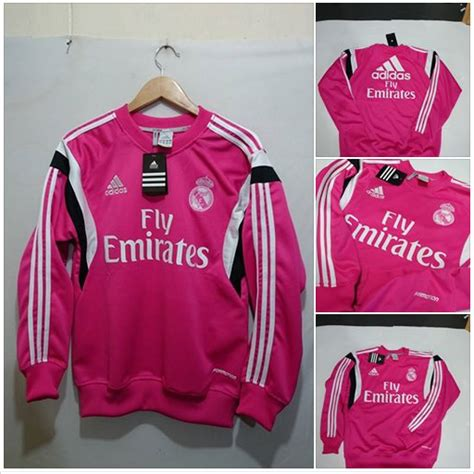 sweater real madrid pink white 2014 2015 murah jual