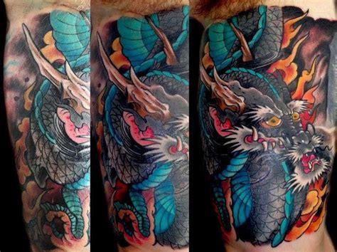 tattoo expo gettysburg sasha67 blue dragon flames color dragon japanese