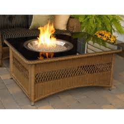 Outdoor Gas Fire Pit Tables - outdoor greatroom company naples 48 inch propane fire pit coffee table with black glass top
