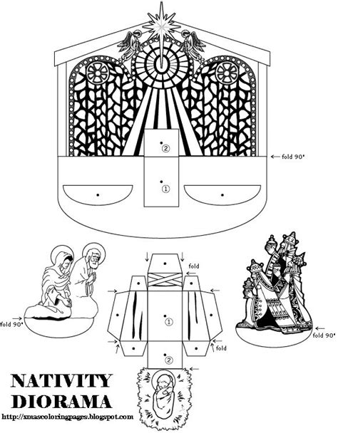 printable nativity diorama 192 best images about printables on pinterest kerst