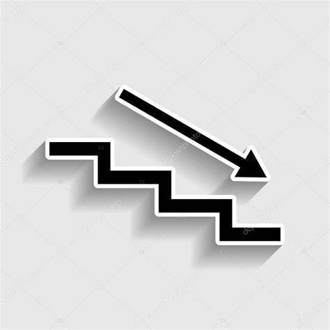 Treppe Nach Unten treppe nach unten mit pfeil stockvektor 109305864