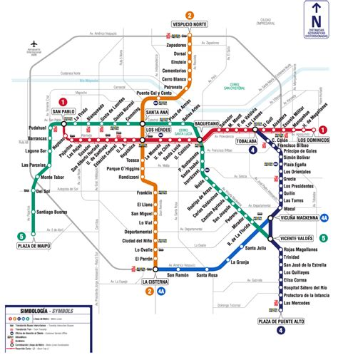 santiago chile map santiago chile metro map pepe s chile