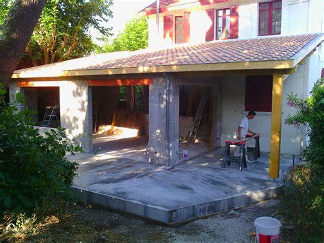 Extension Terrasse Beton by Extension De Maison Ecotech Construction