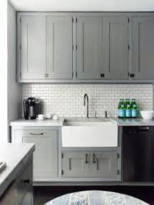 White And Gray Kitchen Cabinets White Subway Tile Backsplash Ideas Vida Design
