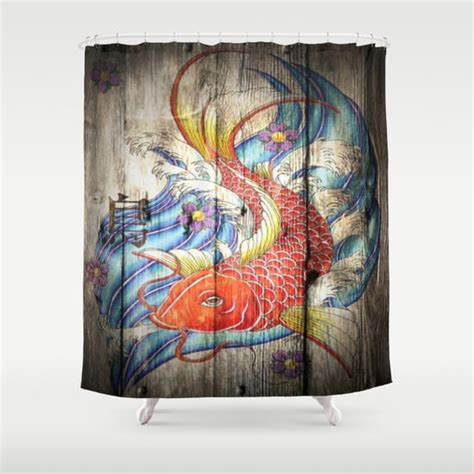 koi fish shower curtain cool unique japanese koi fish art from society6 home decor
