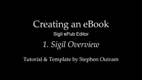 creating ebooks create an ebook with sigil 1 sigil epub editor