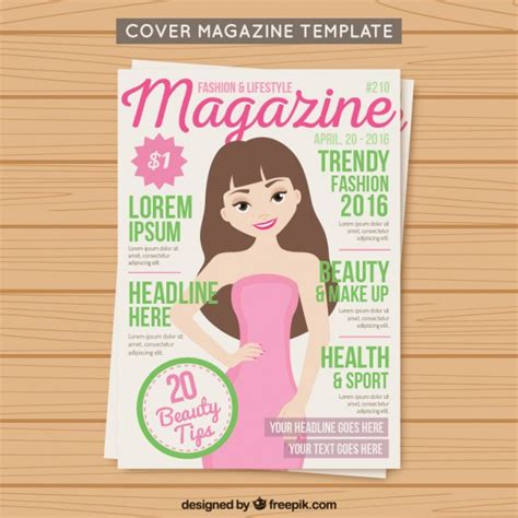 free magazine cover templates downloads cover fashion magazine template vector free