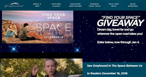 Thetalk Com Giveaway - greyhound find your space ticket giveaway morning bubbles