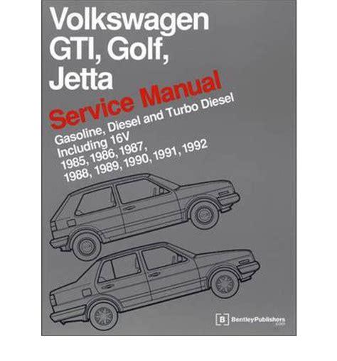volkswagen gti golf jetta service manual 1985 1992