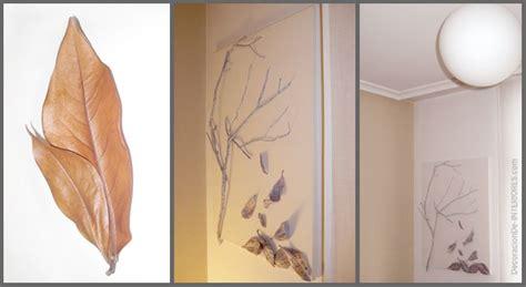 ramas decoracion interiores cuadro con ramas y hojas secas diy decoracion de interiores