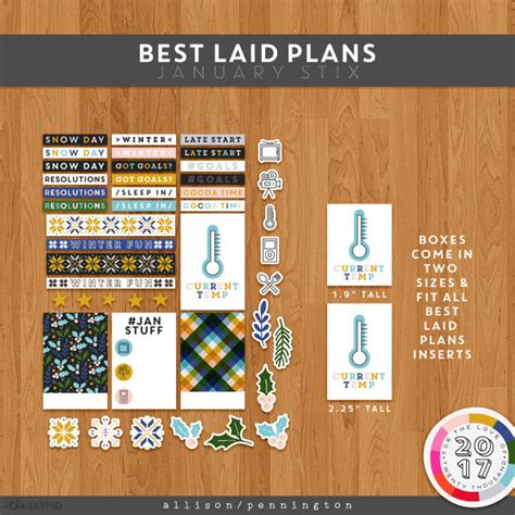 The Best Laid Plans by The Lilypad Planners Best Laid Plans January Stix