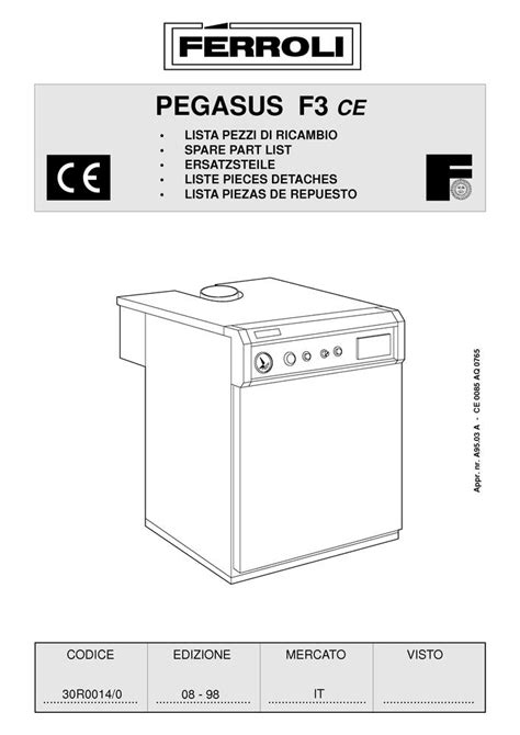 Thermostat Chaudiere 1998 by Pi 232 Ces D 233 Tach 233 Es Chaudi 232 Re Ferroli Pegasus F3 08 1998
