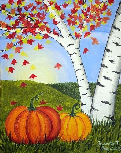 acrylic painting ideas fall paint nite fall pumpkins