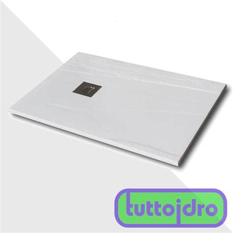 piatto doccia 130x80 piatto doccia slate gel coat 130x80 nieve spessore 3 cm